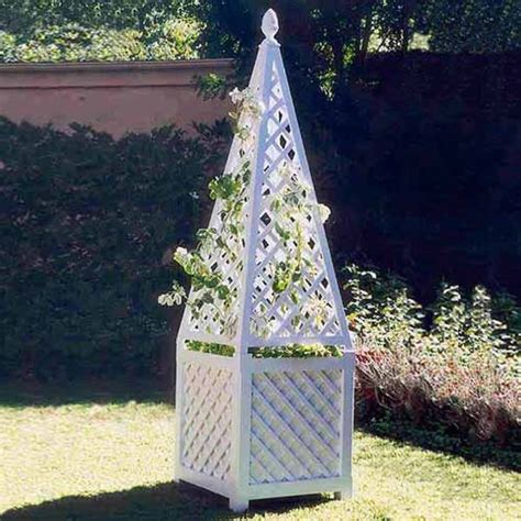 Garden Trellis Planter by Obelisk Garden Trellis And Planter Pergolas Arbors And