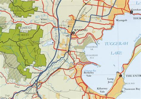 map of the central coast central coast forest map maps books travel guides