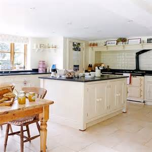 Cream And Black Kitchen Ideas cream and black granite worktop kitchen country homes and interiors
