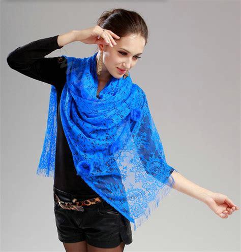 buy wholesale high end fashion flower scarf shawl