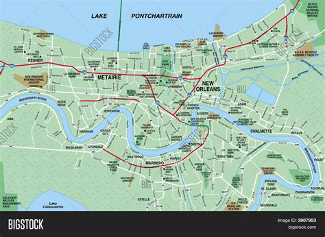 map of new area new orleans metropolitan area map image photo bigstock