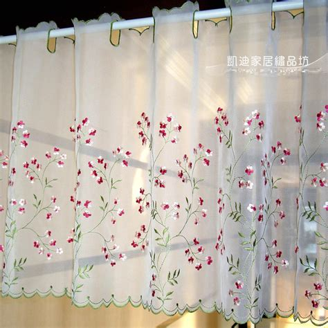 gauzy white curtains new arrival embroidery gauze pipe curtains high grade