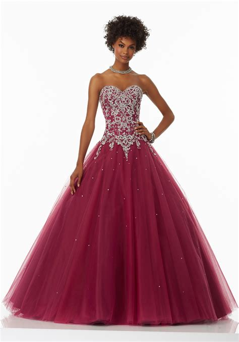 ball gown and prom dresses tulle prom gown with sweetheart neckline style 99054