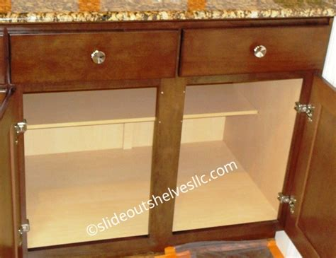 convert kitchen cabinets to pull out drawers removing center stile cabinet frame for wide shelves