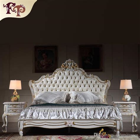antique reproduction furniture french royalty bedroom furniture solid wood carved queen bed