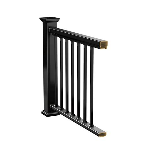 veranda 8 ft hp classic rail kit railing black the