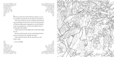 Bloomsbury reveals pages of THRONE OF GLASS coloring book