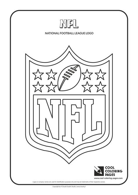 football card coloring page nfl logo coloring pages printable coloring image