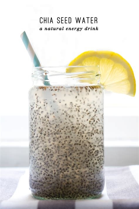 Chia Detox Water Benefits by Chia Seed Coconut Water With Lemon