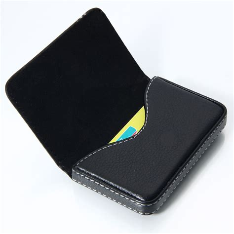 template for leather business card holder new black pocket pu leather business id credit card holder