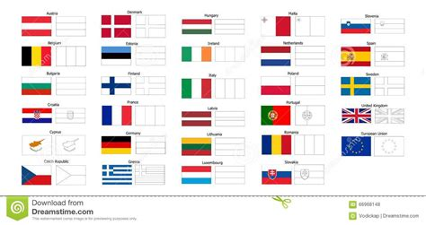 european union flag coloring page coloring book of eu countries flags stock vector image