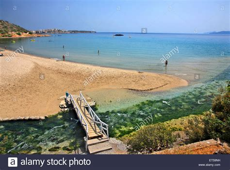agios nikolaos crete greece beach almyros beach and wetland very close to agios nikolaos