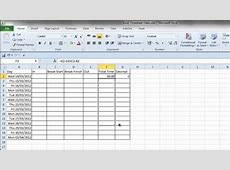 Simple Excel Timesheet - YouTube Excel Spreadsheet With Formulas Examples