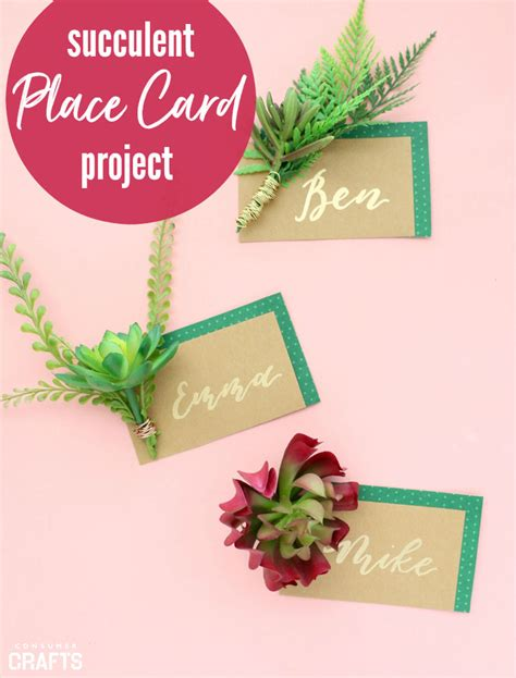 make your own place cards for weddings succulent project diy wedding place cards consumer crafts
