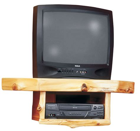 cedar corner tv shelf with dvr dvd player shelf from