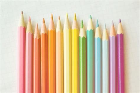 pastel colored pencils the rainbow colored pencils by pinkpinkpeony