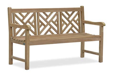 5ft garden bench princeton teak 5ft lattice garden bench 1 5m lindsey teak