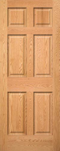 Six Panel Solid Wood Interior Doors Red Oak 6 Panel Wood Interior Doors Homestead Doors