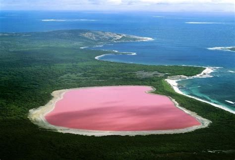 pink lake australia 19 real places on our planet that don t look real