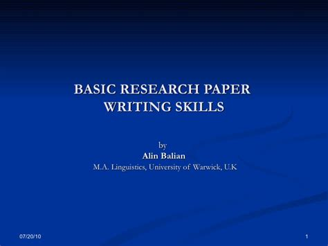 how to write a simple research paper basic research paper writing skills