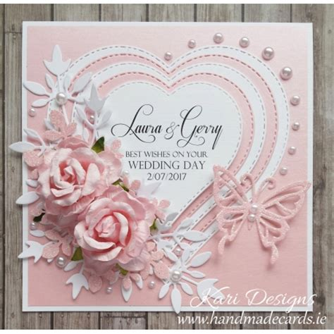 Handmade Greeting Cards For Wedding - handmade wedding card