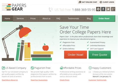 College Essay Review Services by Papersgear Review College Paper Writing Service Reviews