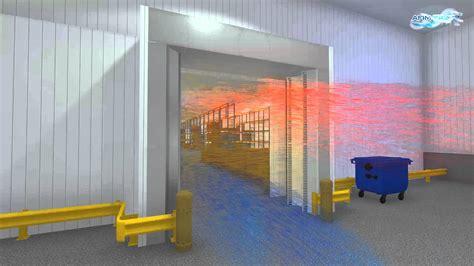 cold room door curtains cold storage air curtain patented afim 174 iglo 2 air door