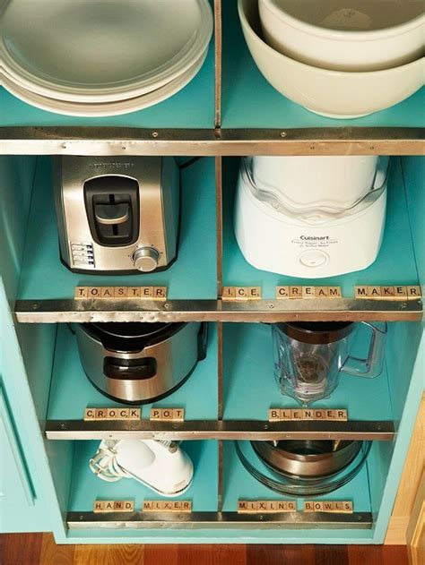 kitchen appliance storage organization - Storage For Kitchen Appliances