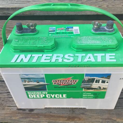 interstate boat batteries find more interstate deep cycle marine battery for sale at