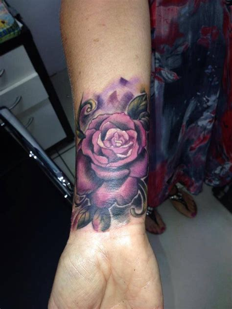 violet rose tattoo wrist violet tattoos