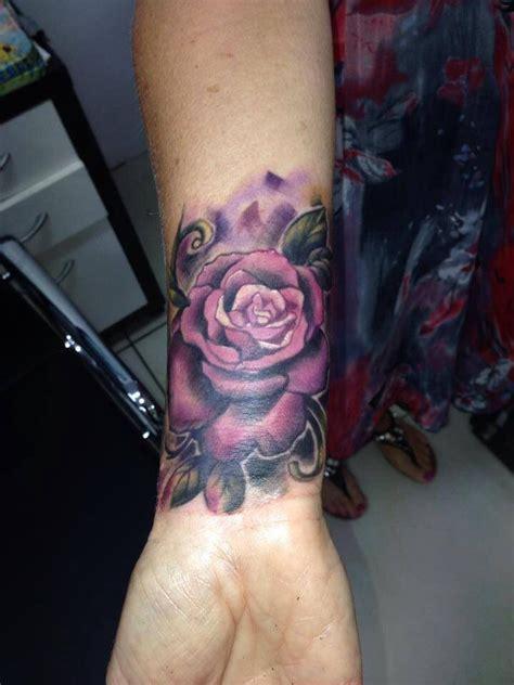 wrist violet rose tattoo tattoos pinterest