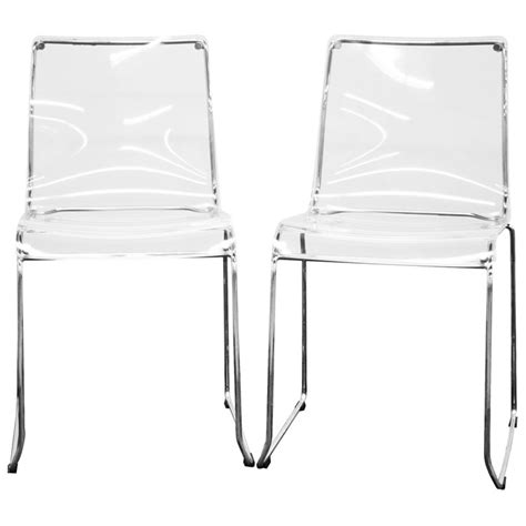 Clear Acrylic Dining Chairs Lino Stackable Transparent Clear Acrylic Dining Chair Dcg Stores