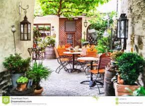Corner Dining Table Corner summer cafe terrace stock photo image 42150610