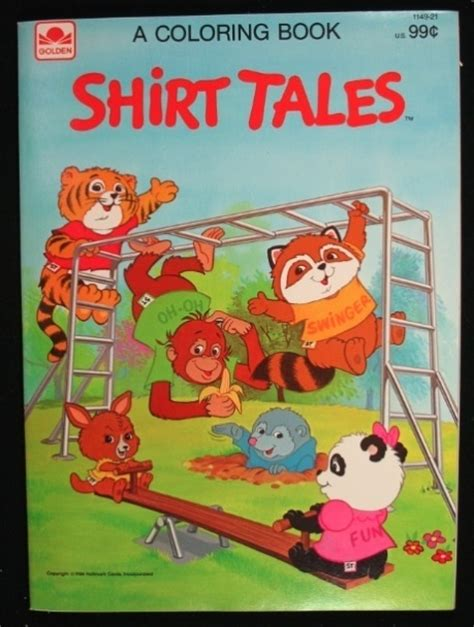 the yellow shirt other tales books shirt tales coloring book 1984