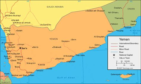 map of yemen yemen map and satellite image