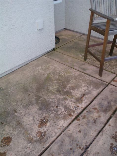 how to clean cement patio concrete patio cleaning roseville