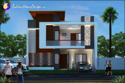 Home Designs Modern Contemporary Indian Home Design By Unique