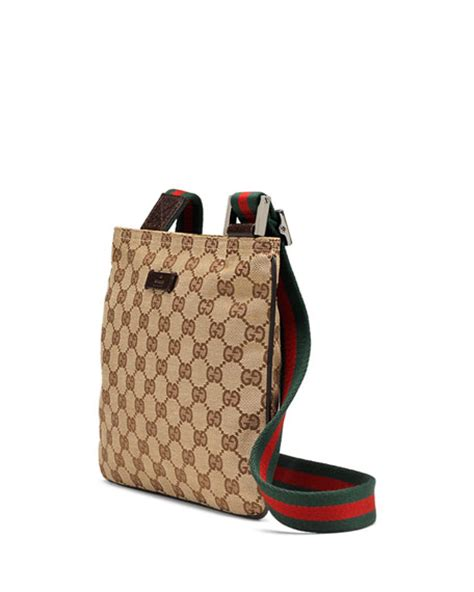 Coming New Gucci Web Leather With 2 Straps Medium gucci original gg canvas messenger bag with signature web