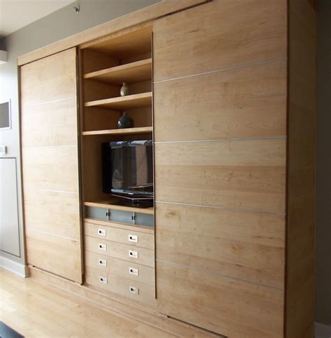 modern wall unit of maple products i