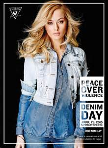 Guess Lada Fashion guess takes a stand against violence with new denim caign