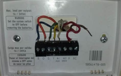 wife happy thermostat wiring question
