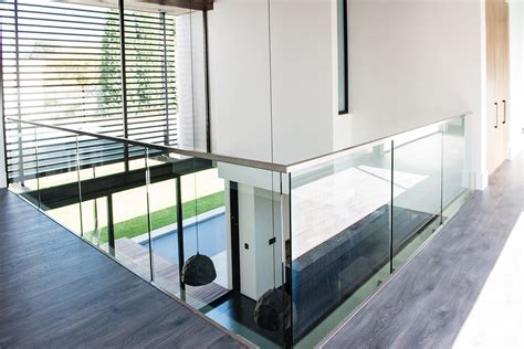 Interior Handrails Professional Frameless Glass Balustrades Steel Studio