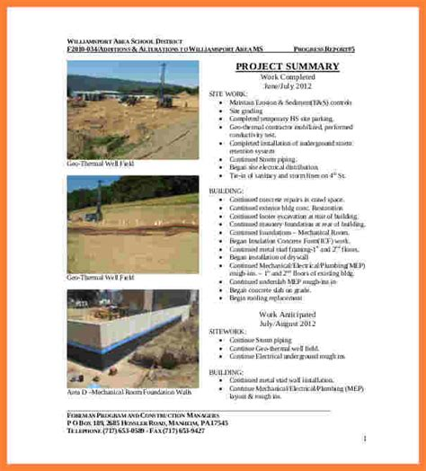 sle technical report writing exle construction project report writing sle 28 images