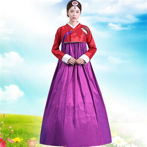 Dress Asia new arrive hanbok korean traditional costume korea hanbok dress asian