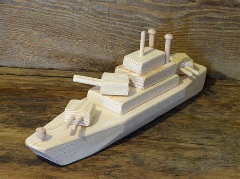 Handmade Wooden Ships - wood battleship ww2 wooden toys ship navy handmade eco