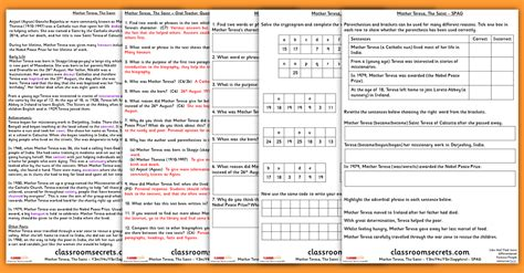 biography guided reading ks2 mother teresa the saint mother teresa ks2 guided reading