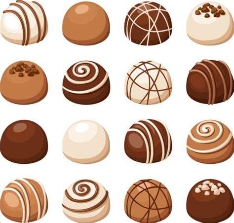 Animal Ornaments by Delicious Chocolate Icons Set Vector 02 Food Icons Free