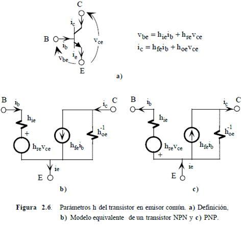 transistor bjt parametros hibridos modelo h 237 brido h de transistor bipolar electr 243 nica unicrom