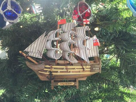 wholesale wooden hms victory model ship christmas tree
