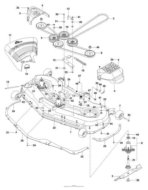 husqvarna      parts diagram  mower deck cutting deck
